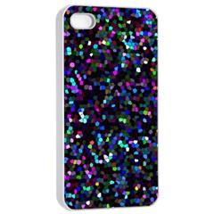 Glitter 1 Apple Iphone 4/4s Seamless Case (white) by MedusArt