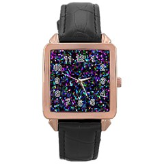 Glitter 1 Rose Gold Watches by MedusArt