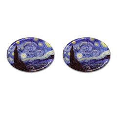 Van Gogh Starry Night Cufflinks (oval) by MasterpiecesOfArt
