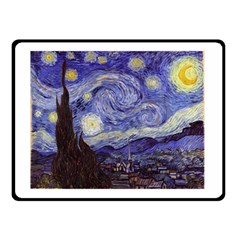 Van Gogh Starry Night Double Sided Fleece Blanket (small)  by MasterpiecesOfArt