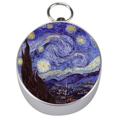 Van Gogh Starry Night Silver Compasses by MasterpiecesOfArt