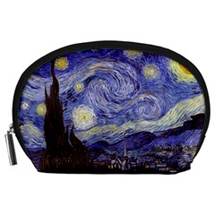 Van Gogh Starry Night Accessory Pouches (large)  by MasterpiecesOfArt