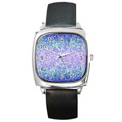 Glitter 2 Square Metal Watches by MedusArt