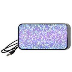 Glitter 2 Portable Speaker (black)  by MedusArt