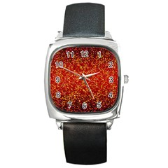 Glitter 3 Square Metal Watches by MedusArt