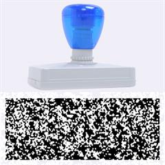Glitter 3 Rubber Address Stamps (xl) by MedusArt