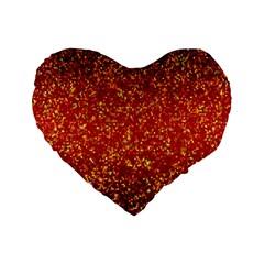 Glitter 3 Standard 16  Premium Heart Shape Cushions by MedusArt