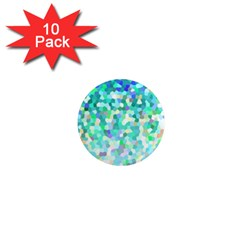 Mosaic Sparkley 1 1  Mini Magnet (10 Pack)  by MedusArt