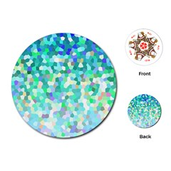 Mosaic Sparkley 1 Playing Cards (round)  by MedusArt