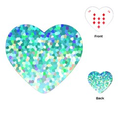 Mosaic Sparkley 1 Playing Cards (heart)  by MedusArt