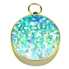 Mosaic Sparkley 1 Gold Compasses by MedusArt