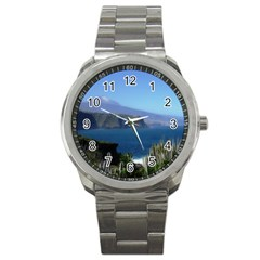 Panted Landscape Tenerife Sport Metal Watches by MoreColorsinLife