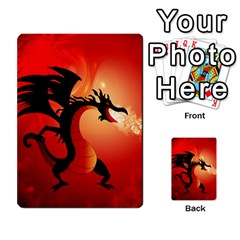 Funny, Cute Dragon With Fire Multi-purpose Cards (Rectangle)  by FantasyWorld7