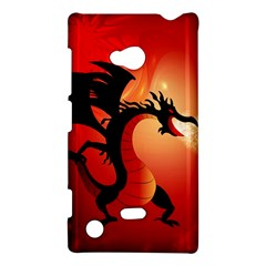 Funny, Cute Dragon With Fire Nokia Lumia 720 by FantasyWorld7
