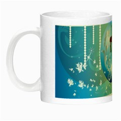 Wonderful Christmas Ball With Reindeer And Snowflakes Night Luminous Mugs by FantasyWorld7