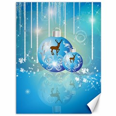 Wonderful Christmas Ball With Reindeer And Snowflakes Canvas 36  X 48   by FantasyWorld7