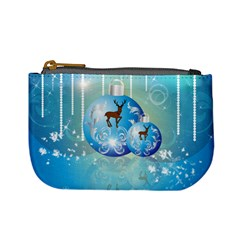 Wonderful Christmas Ball With Reindeer And Snowflakes Mini Coin Purses by FantasyWorld7