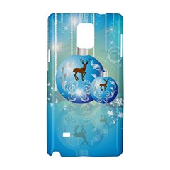Wonderful Christmas Ball With Reindeer And Snowflakes Samsung Galaxy Note 4 Hardshell Case by FantasyWorld7