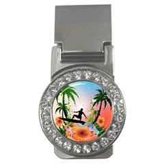 Tropical Design With Surfboarder Money Clips (cz)  by FantasyWorld7