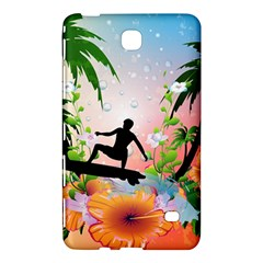 Tropical Design With Surfboarder Samsung Galaxy Tab 4 (7 ) Hardshell Case  by FantasyWorld7