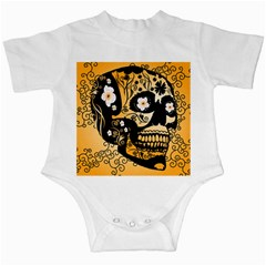 Sugar Skull In Black And Yellow Infant Creepers by FantasyWorld7