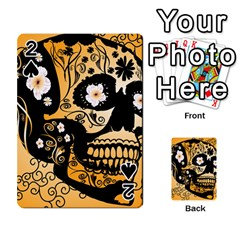 Sugar Skull In Black And Yellow Playing Cards 54 Designs