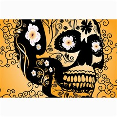 Sugar Skull In Black And Yellow Collage 12  X 18  by FantasyWorld7