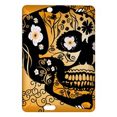 Sugar Skull In Black And Yellow Kindle Fire HD (2013) Hardshell Case by FantasyWorld7