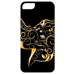 Beautiful Elephant Made Of Golden Floral Elements Apple iPhone 5 Classic Hardshell Case