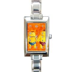 Gemini Zodiac Sign Rectangle Italian Charm Watches by julienicholls