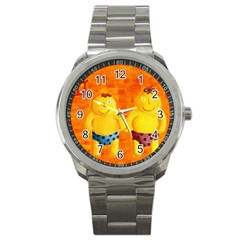 Gemini Zodiac Sign Sport Metal Watches by julienicholls
