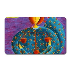 Libra Zodiac Sign Magnet (rectangular) by julienicholls