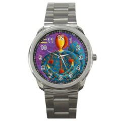 Libra Zodiac Sign Sport Metal Watches by julienicholls
