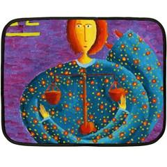 Libra Zodiac Sign Double Sided Fleece Blanket (mini)  by julienicholls