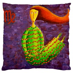 Virgo Zodiac Sign Large Flano Cushion Cases (two Sides)  by julienicholls