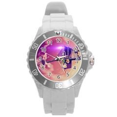 Vintage Round Plastic Sport Watch (l) by FantasyWorld7