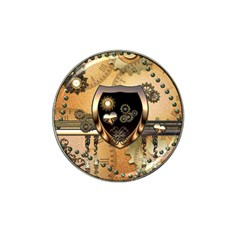 Steampunk, Shield With Hearts Hat Clip Ball Marker (10 Pack) by FantasyWorld7