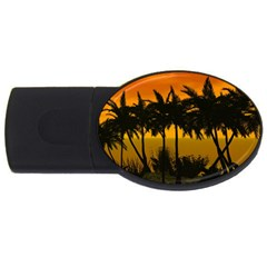Sunset Over The Beach USB Flash Drive Oval (4 GB)  by FantasyWorld7