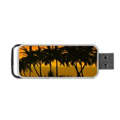 Sunset Over The Beach Portable Usb Flash (two Sides) by FantasyWorld7