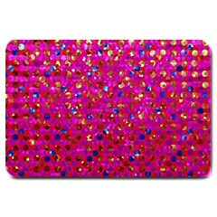 Polka Dot Sparkley Jewels 1 Large Doormat  by MedusArt