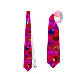 Polka Dot Sparkley Jewels 1 Neckties (two Side)  by MedusArt