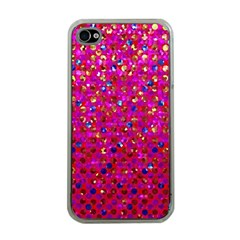 Polka Dot Sparkley Jewels 1 Apple Iphone 4 Case (clear) by MedusArt