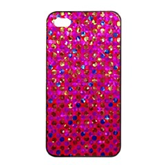 Polka Dot Sparkley Jewels 1 Apple Iphone 4/4s Seamless Case (black) by MedusArt