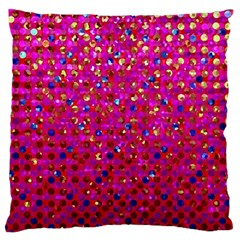 Polka Dot Sparkley Jewels 1 Large Flano Cushion Cases (two Sides)  by MedusArt