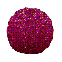 Polka Dot Sparkley Jewels 1 Standard 15  Premium Flano Round Cushions by MedusArt