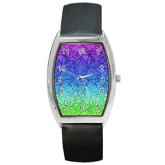 Grunge Art Abstract G57 Barrel Style Metal Watch by MedusArt