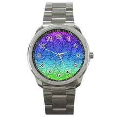 Grunge Art Abstract G57 Sport Metal Watch by MedusArt