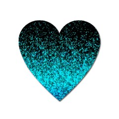Glitter Dust G162 Heart Magnet by MedusArt