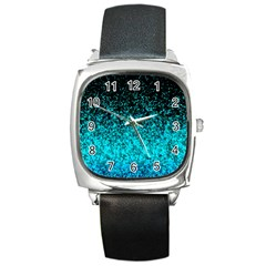 Glitter Dust G162 Square Metal Watches by MedusArt