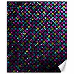 Polka Dot Sparkley Jewels 2 Canvas 8  X 10